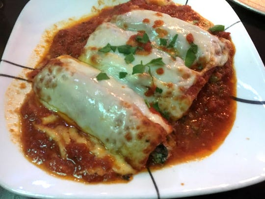 A Touch of Brooklyn Pizza's vegetable manicotti  was