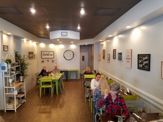 The interior of deLITEful kitchen in Stuart. The kids' menu has some unique choices compared to some area restaurants.