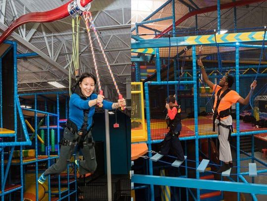 Check out the ropes and the Sky Rider Coaster at Urban