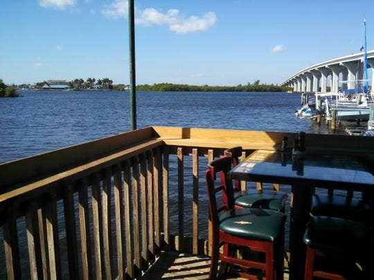 Whether seated in the rustic dining room, sporty enclosed porch or fresh-air deck hugging the water, diners can relax in the casual atmosphere of the Riverside Cafe in Vero Beach.