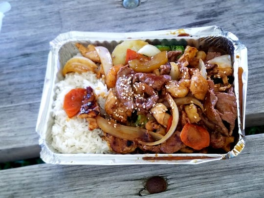 Hibachi from chef Bruce Li's Korean and Japanese food