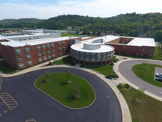 A drone photo of the Three Rivers Educational Campus