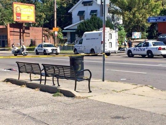The scene of a fatal accident on Vine Street near the Cincinnati Zoo Thursday afternoon.