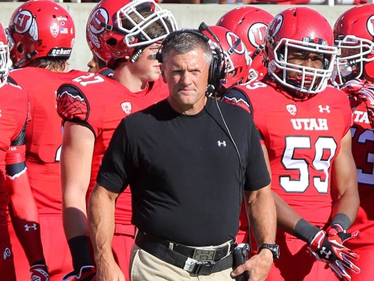 Utah coach Kyle Whittingham.