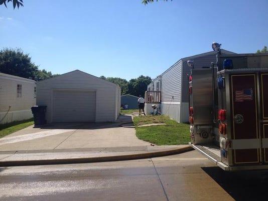 Ewing Trace trailer fire