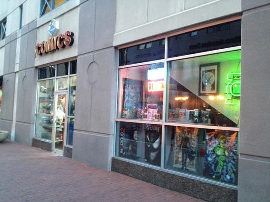 Downtown Comics near Monument Circle is the go-to place for young superhero fans.