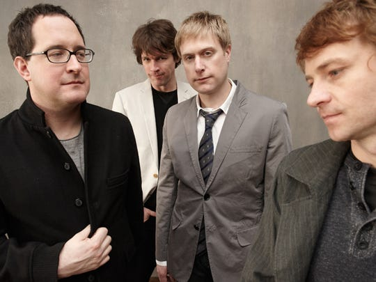 The Hold Steady is made up of Craig Finn (from left), Galen Polivka, Tad Kubler and Bobby Drake.