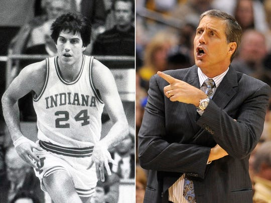 Randy Wittman, as an Indiana University basketball player in the early 1980s and as the current Washington Wizards coach.