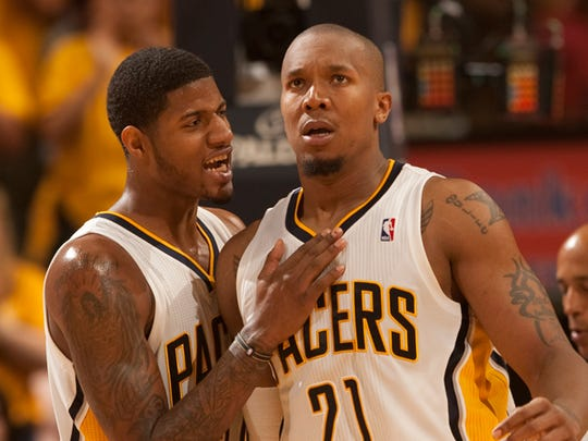 Paul George and David West