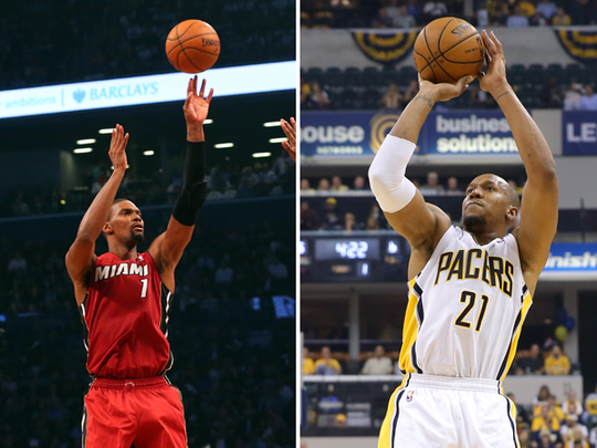 Chris Bosh (left) and David West (right).