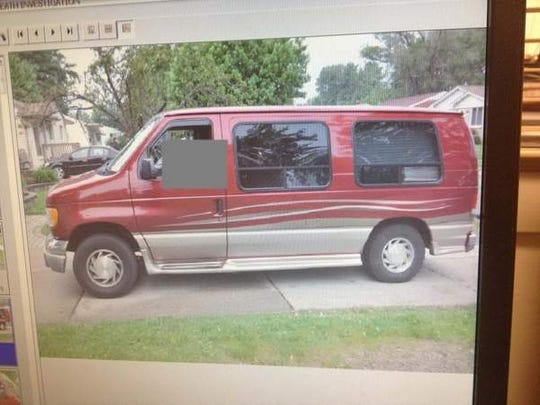 Photo from the Warren Police Department of the van in which a 31-year-old passenger died on a ride from Arizona to Michigan. A 62-year-old Clinton Township man discovered his passenger was dead as they passed through Oklahoma or Texas, but did not notify authorities until he reached Michigan.