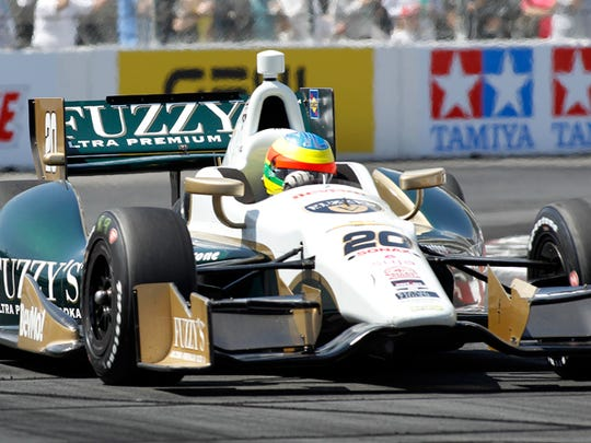Mike Conway, the road/street specialist at Ed Carpenter Racing, won in Long Beach.
