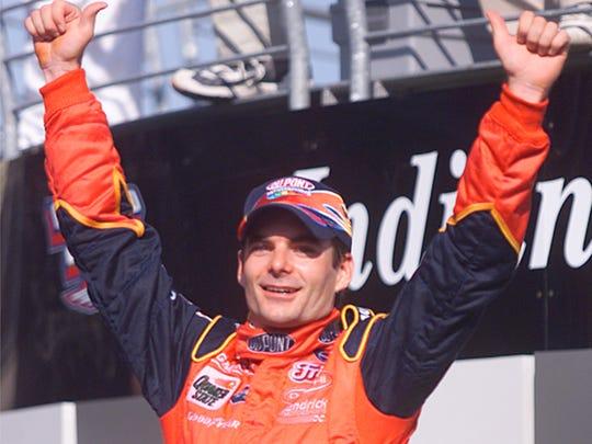 Jeff Gordon, 2001 Brickyard 400 champ