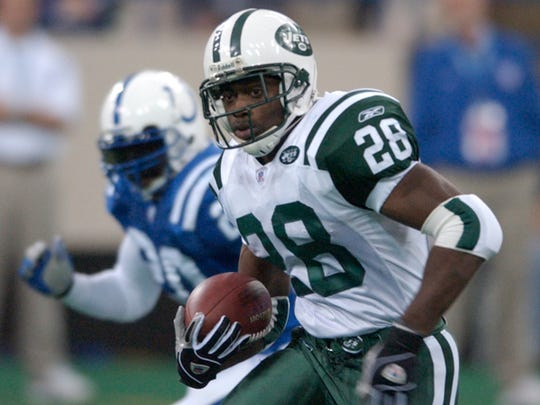 Curtis Martin running against the Indianapolis Colts.
