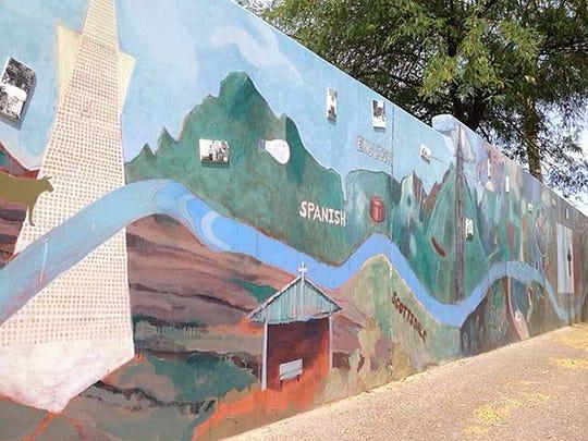 Mural in Penjamo Village in Scottsdale.