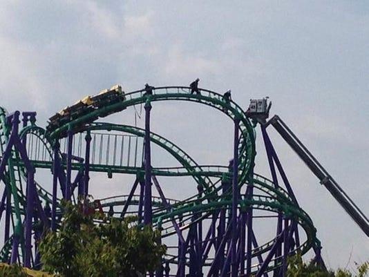 Stuck roller-coaster
