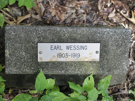 Earl Wessing was living in the Ahwaga colony cottage when he died in the flu pandemic of 1919.
