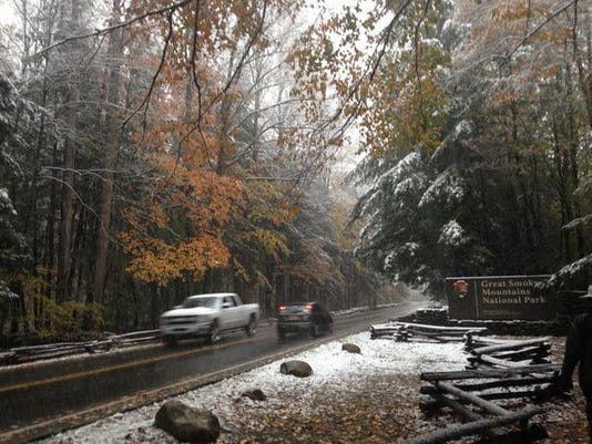 Snowfall in the Smokies