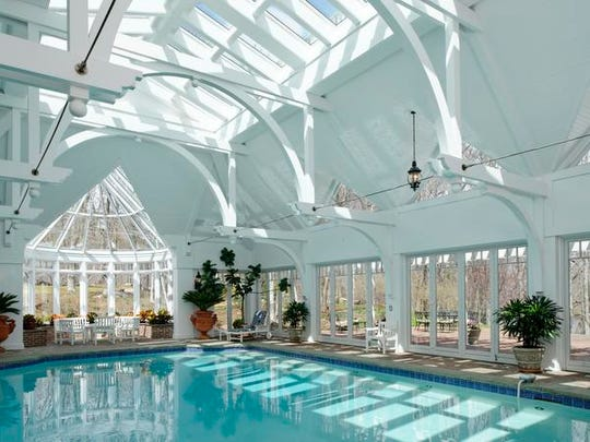 The indoor, saltwater pool at Ron Howard's Armonk estate