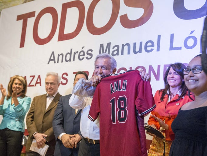 Mexican politician Andres Manuel Lopez Obrador brought