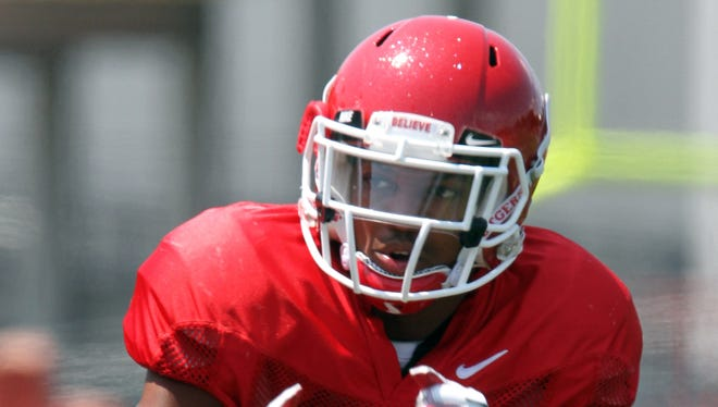 Rutgers linebacker T.J. Taylor is back on the field after missing all of last season with a torn ACL suffered in spring camp.