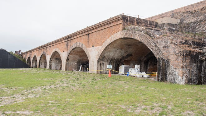 A preservation project was recently completed at Fort Pickens at the Gulf Islands National Seashore.