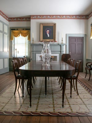 Home at last, an original dining table has been returned to Foscue Plantation. Though always in the family, it has passsed through 10 sets of hands since it was first purchased in 1824.