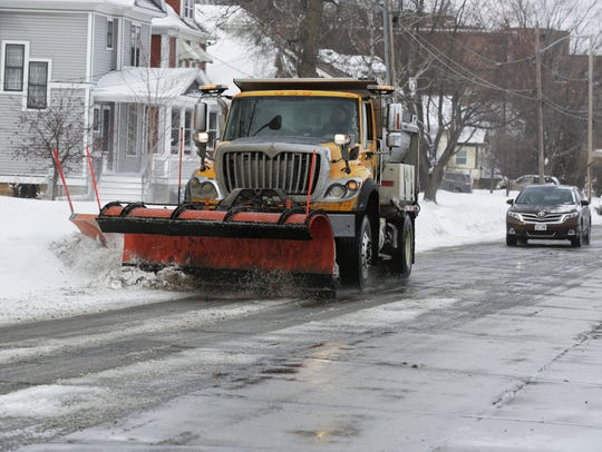 City crews were busy clearing the city streets March