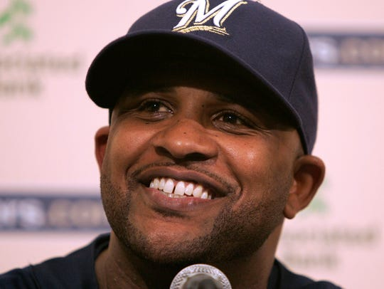 New Milwaukee Brewers starting pitcher CC Sabathia