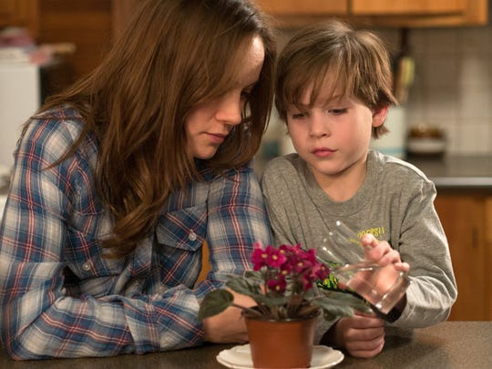 "In this image released by A24 Films,  Brie Larson, left, and Jacob Tremblay appear in a scene from ""Room."" (A24 Films via AP)"