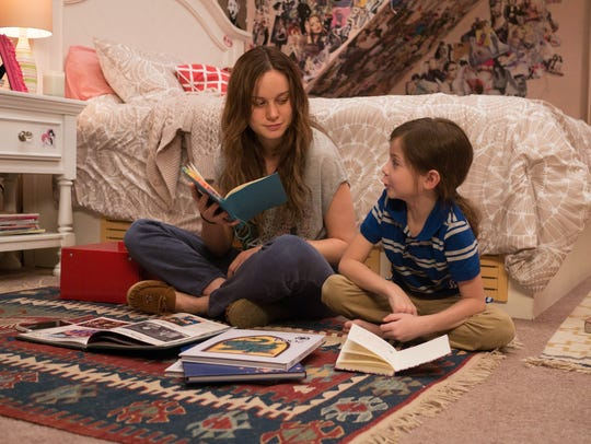 Brie Larson and Jacob Tremblay appear in a scene from