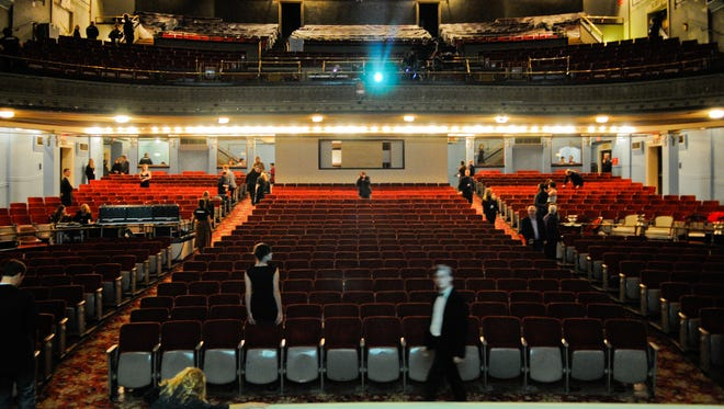 A view from the Emery Theatre from the stage.