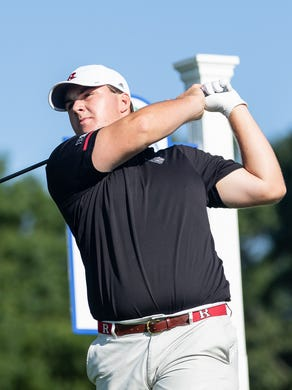 Little Silver resident and Rutgers standout Chris Gotterup at the MGA's Ike Championship on Monday.
