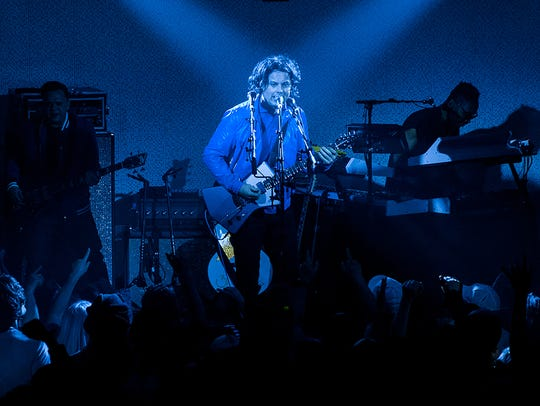 Jack White performs at Third Man Records on Friday,