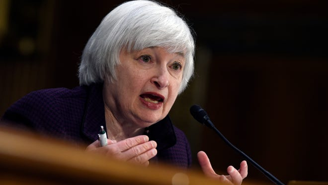 Federal Reserve Board chair Janet Yellen testifies on Capitol Hill in Washington, D.C., on April 29, 2015.