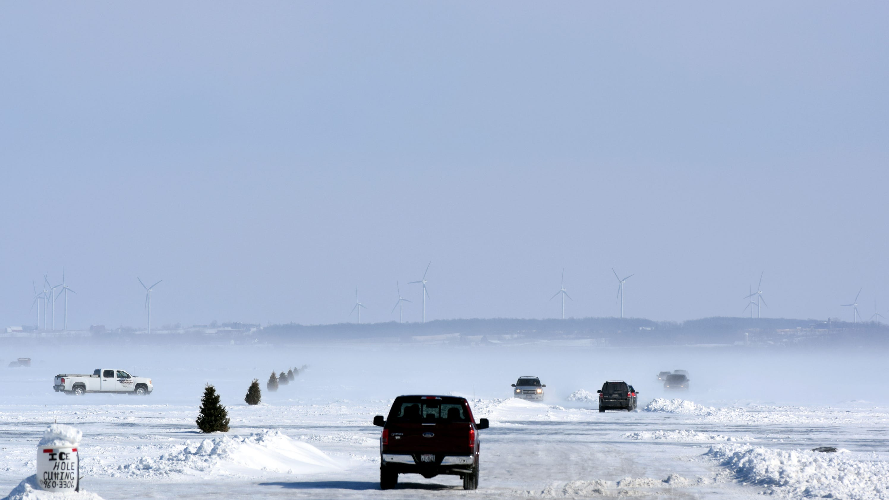 Lake winnebago ice conditions report for Ice fishing reports