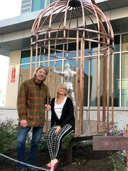 Daniel Carlson and Vonnie Woodrick, founder of the