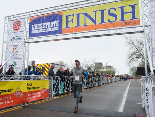 Runners compete in the Horsetooth Half Marathon Sunday,