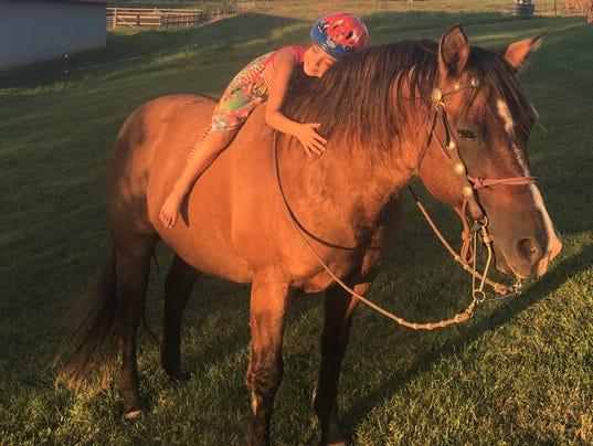 Madeline Jones with Hawk the horse