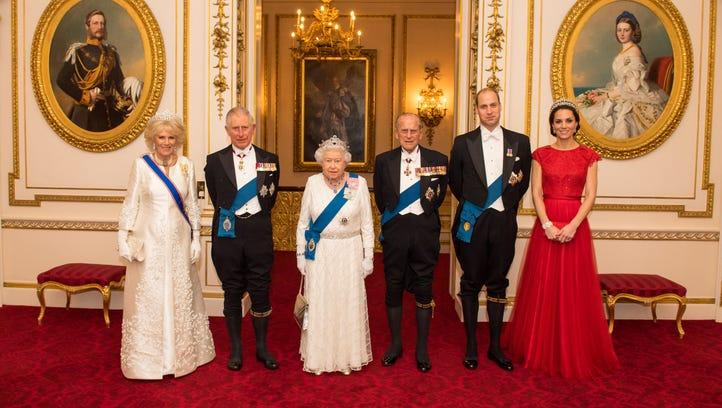 Camilla, Duchess of Cornwall, left, Prince Charles,