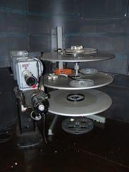 The Parkland Theatre's original 35 millimeter projector