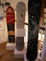 The snowboards used by Vermonters Kelly Clark and Ross