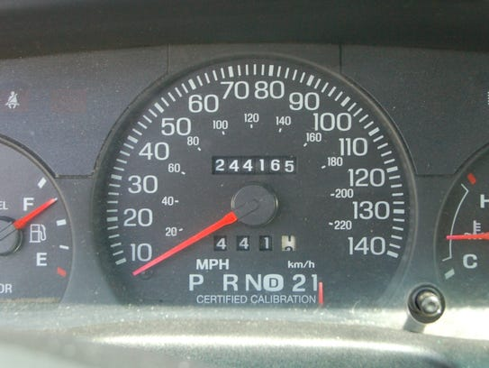 The odometer of this Baxter County patrol car reads