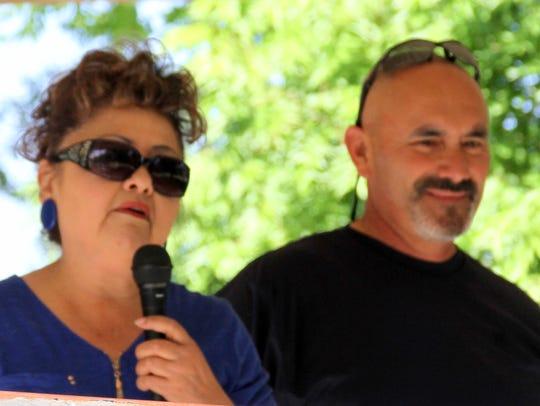 Arminda Munoz and Deming Mayor Benny Jasso welcomed