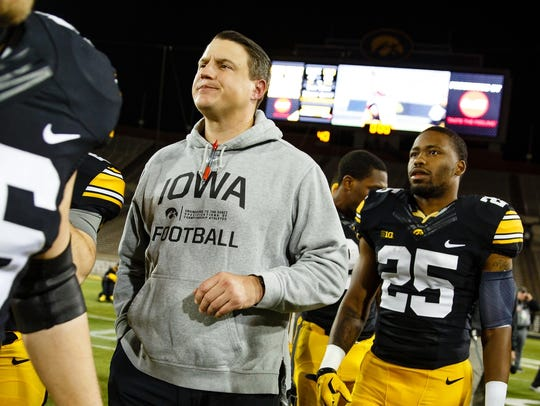 Brian Ferentz, 34, is a former three-year starter as