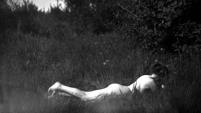 """""""Self-portrait"""" is a 1906, silver gelatin print by American modernist photographer Imogen Cunningham. The photograph is in the exhibit """" 'For Myself': Nudes by Imogen Cunningham, 1906-1939"""" that runs Feb. 13 through May 1 at Hallie Ford Museum of Art."""