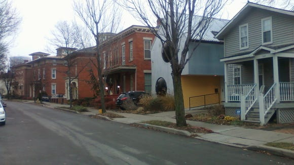 The Bubble House on Corn Hill's Fitzhugh Street. Photo taken last winter.