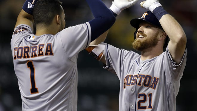 Cedar Crest grad Derek Fisher was recalled by the Houston Astros late Monday night and is expected to be in the starting lineup tonight when the Astros take on the Phillies at Citizen Bank Park.