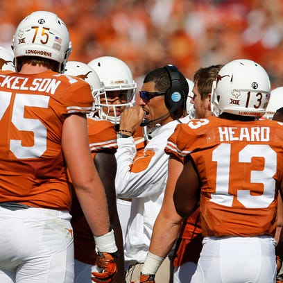 Texas Longhorns offensive coordinator Jay Norvell with