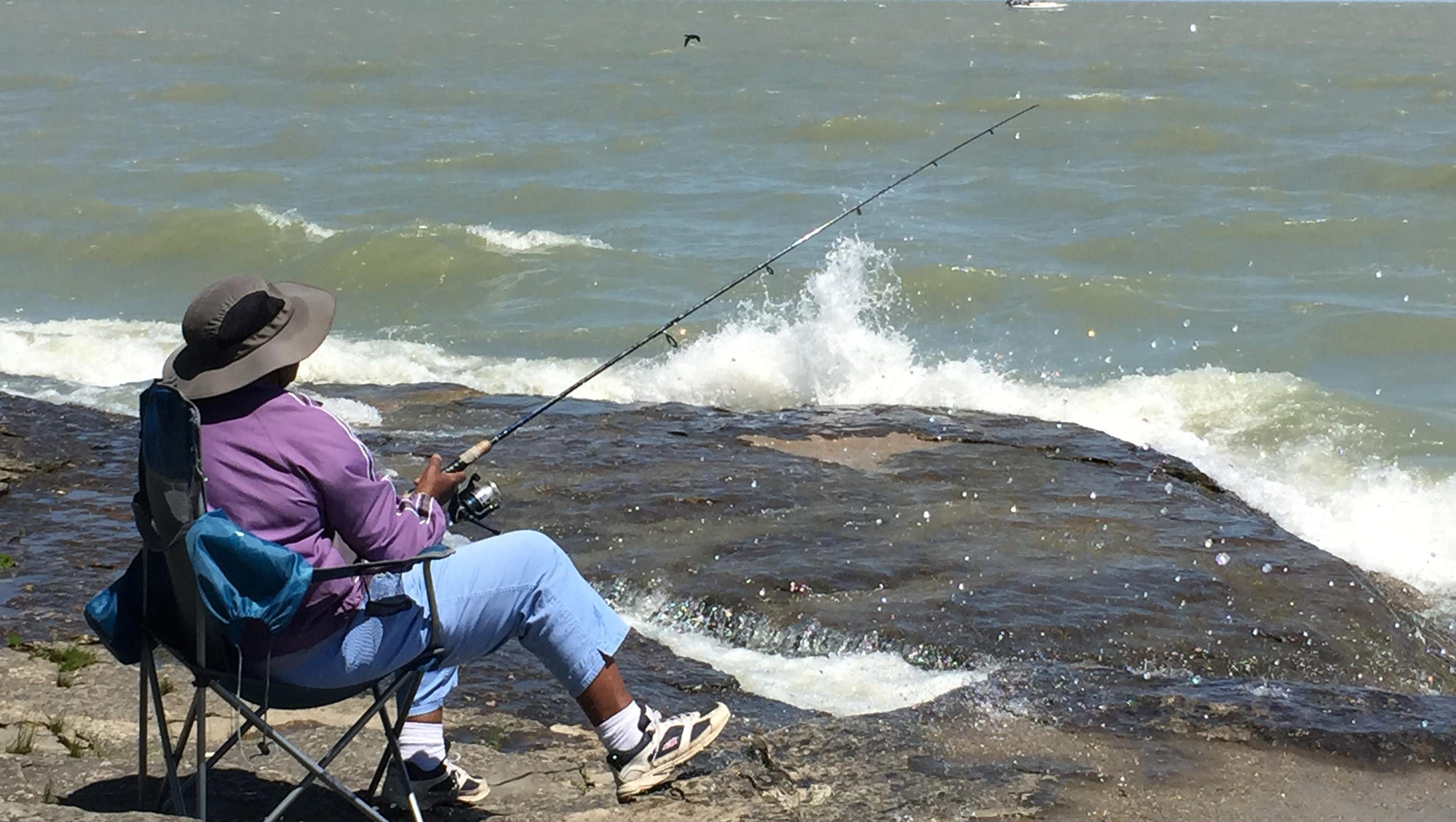 Fishing report bite inconsistent but fish being caught for Port clinton fishing report